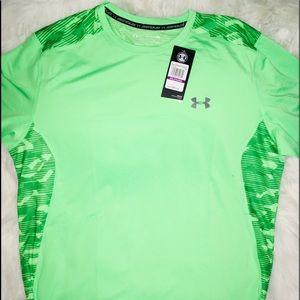 UnderArmour Green Lime Men's Shirt Short Sleev XXL